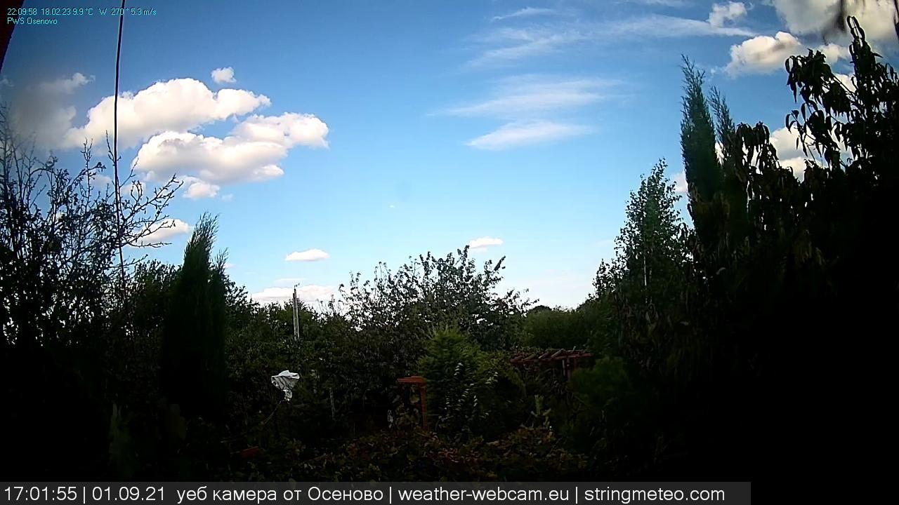 Webcam - live from Osenovo